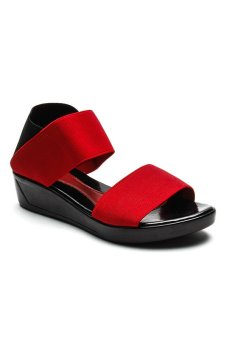 Ohrelle Cecille Wedge (Red)