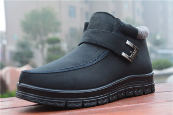 Old Beijing small Plus-sized cloth shoes snowfield cotton-padded shoes (Black)