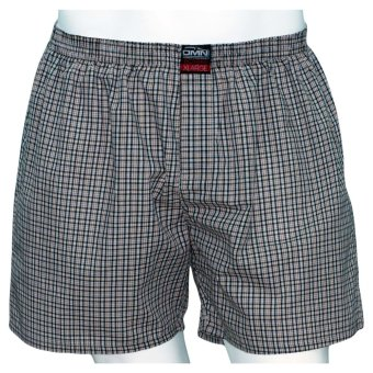 Omni By SO-EN Men's Checkered Boxer Short (Brown Black) Price Philippines