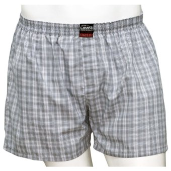 Omni By SO-EN Men's Checkered Boxer Short (Gray White) Price Philippines