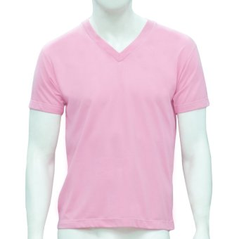 Omni By SO-EN Men's V-Neck T-Shirt (Pink) Price Philippines