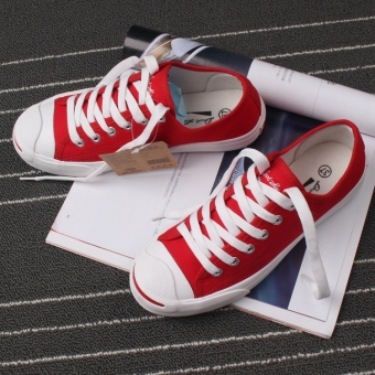 Women's Lace-up Canvas Shoes (Red [canvas]) (Red [canvas])