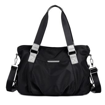 Oxford Cloth large capacity large bag women's bag (Black)