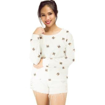 Penny Drop Sleeves White Sweater Price Philippines