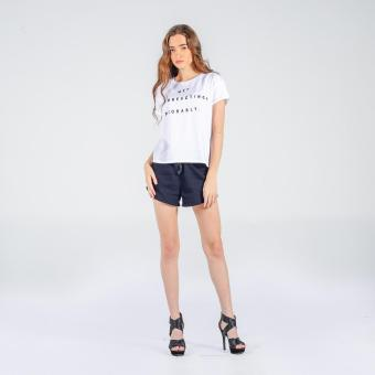 Penshoppe Boxy Tee With Graphic Print (White)