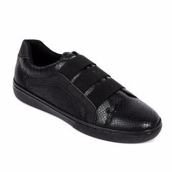 PENSHOPPE Men's Slip-On Sneakers (Black)