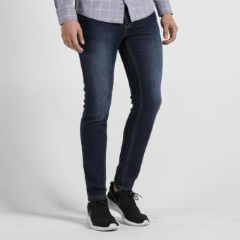 PENSHOPPE Skinny Fit 5-Pocket Jeans With Zipper Fly (Blue)