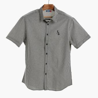 PH Basic By Kultura Mens Gingham Casual Shirt (Black)