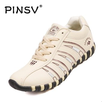 PINSV Women's Sport Shoes Badminton Shoes (Beige) - intl