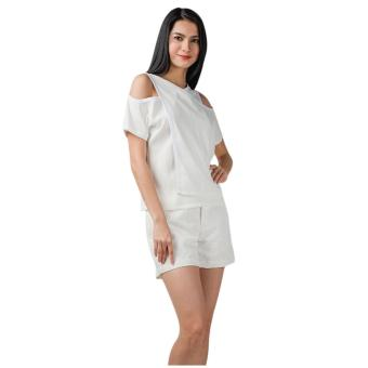 Plains & Prints Dew Short Sleeves Top (Offwhite)