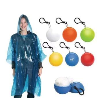 Portable Raincoat In A Ball Set Of 2 (Color Assorted)