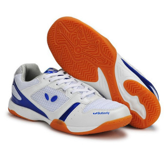 Professional Men Tennis Shoes Badminton Sneakers(Blue) intl