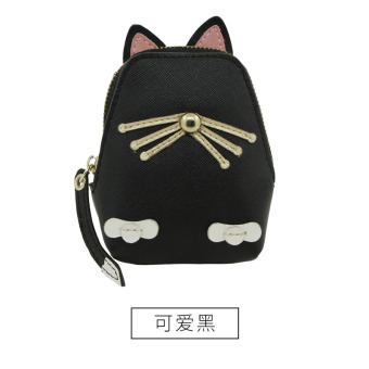 Rinka doll cute female New style student small wallet women's purse bag (Cute black)