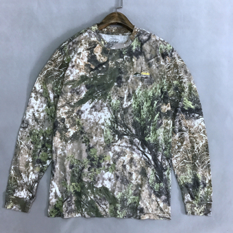 Round neck long-sleeved jungle camouflage T-shirt (Long-sleeved light camouflage)