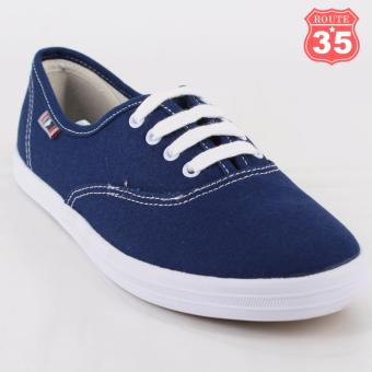ROUTE35 Kendra Sneakers Rubber Shoes (Blue W-680A)