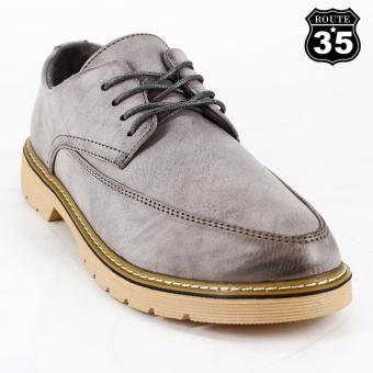 ROUTE35 Theo Formal Lace-ups Casual Business Leather Shoes (Gray 2262)