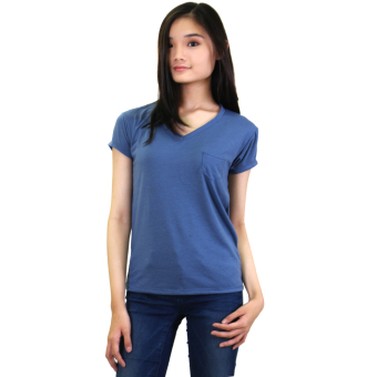 Sabrina Soft Top Blouse (Blue)