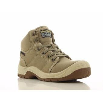 Safety Jogger Desert S1P High Cut Safety Shoes Work Boot Footwear Steel Toe Oil Resist Anti-slip ( Beige )