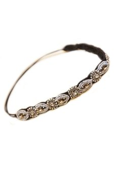Sanwood(R) Women's Rhinestone Gray Beads Headband Hair Band Price Philippines