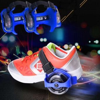 Scooter Wheels Outdoor Sports Roller Skates Adjustable ShoesRollerblading Outdoor Children's Flash Roller Skates - intl Price Philippines