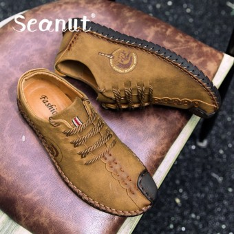 Seanut Casual Suede Leather Loafers Solid Leather Driving Moccasins Slip on Men Loafers Shoes Male Loafers