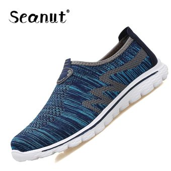 Seanut Lady Casual Walking Shoes Couple Sports Shoes Sneakers (DarkBlue) - intl