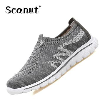 Seanut Lady Casual Walking Shoes Couple Sports Shoes Sneakers(Grey) - intl