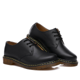 Seanut Men's Casual Genuine Leather Lace Shoes Formal Shoes (Black) - 3