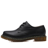 Seanut Men's Casual Genuine Leather Lace Shoes Formal Shoes (Black) - 2