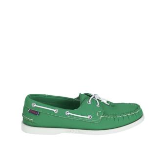 Sebago Docksides Men Boat Shoes (Green Neoprene)
