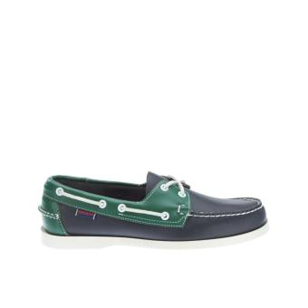 Sebago Spinnaker Men Boat Shoes (Navy Green)