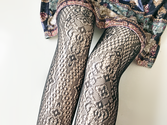 Sexy silk Cooljie anti-Pantyhose fishnet stockings (Totem)