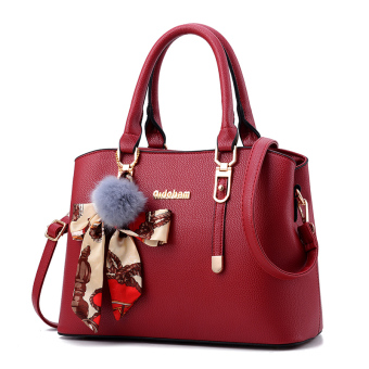Shishang New style shoulder winter women's bag (Wine red-to send VT wallet)