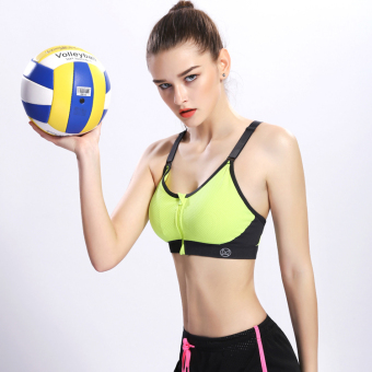 Shock-resistant breathable yoga fitness clothing I bra (Lemon yellow)
