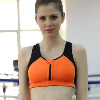 Shock-resistant running fitness underwear I bra (Orange)