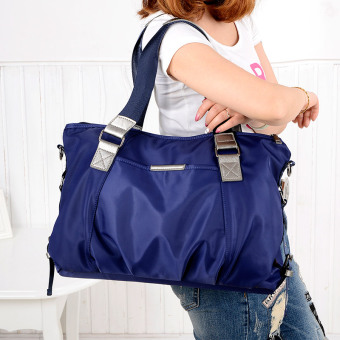 Simple nylon Oxford Cloth large bag New style women's bag (Blue 1139 nylon large bag)