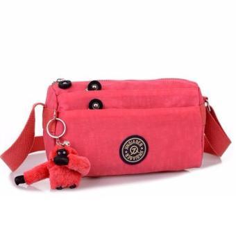 ... niceEshop Waterproof Nylon Multi pocket Women Messenger Bag Black Source Skadi JQE 612 Korean Fashion Bag