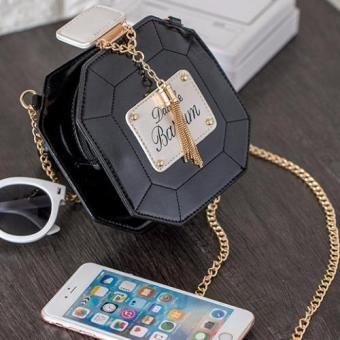 Skadi P-101 Women's Perfume Style Hard Shell Mini Shoulder Chain Fashion Bag Cellphone Bag Best Gift Wedding Party(Black) Price Philippines
