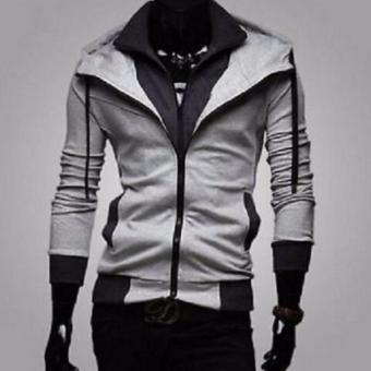 Slim Fit Hoodie Jacket (Assassin's Creed) Light grey&Black
