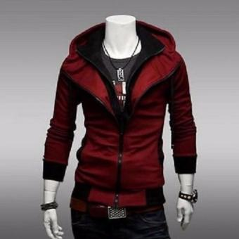Slim Fit Hoodie Jacket (Assassin's Creed) Red&Black