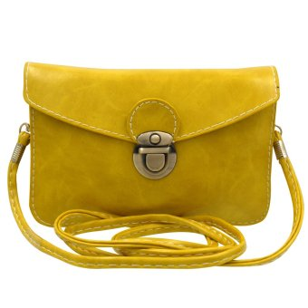 Sling Bag Leather Ladies Casual (Yellow)