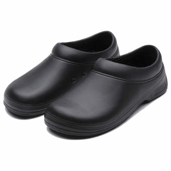 WAKO Non-slip Oil-resistant Lightweight Chef Shoes Black Black
