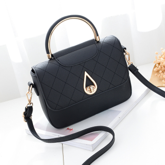 Small Square casual autumn New style women's bag (Black)