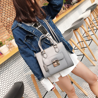 Small Square female New style large bag (Gray)
