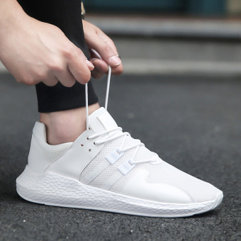 Sports New style autumn mesh shoes men shoes (White)