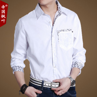 Spring New style Plus-sized shirt (White) (White)