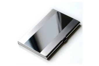Stainless Steel Aluminium Business ID Credit Card Holder Case Cover Silver