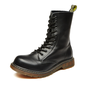 Stylish men leather boots Dr. Martens (Black)