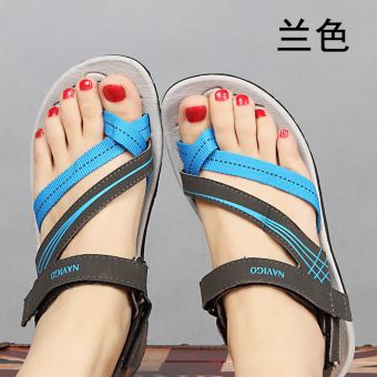 Summer flat heel women's sandals (Blue)