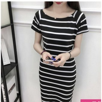 Summer women casual stripe mini dress - intl